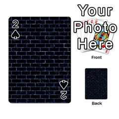 Brick1 Black Marble & Blue Marble Playing Cards 54 Designs