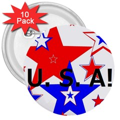 The Patriot Usa 3  Buttons (10 Pack)