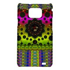 Stars A Dove A  Woodo Stratocaster In Peace And Leather Samsung Galaxy S2 i9100 Hardshell Case