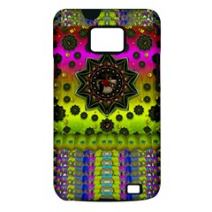 Stars A Dove A  Woodo Stratocaster In Peace And Leather Samsung Galaxy S II i9100 Hardshell Case (PC+Silicone)