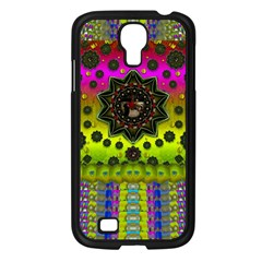 Stars A Dove A  Woodo Stratocaster In Peace And Leather Samsung Galaxy S4 I9500/ I9505 Case (Black)