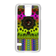 Stars A Dove A  Woodo Stratocaster In Peace And Leather Samsung Galaxy S5 Case (White)