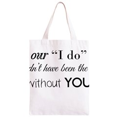 Wedding Favor/Thank You Classic Light Tote Bag