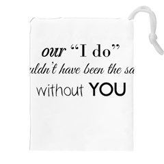 Wedding Favor/Thank You Drawstring Pouches (XXL)