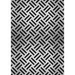 WOVEN2 BLACK MARBLE & SILVER BRUSHED METAL (R) Heart Bottom 3D Greeting Card (7x5) Inside
