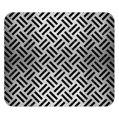 Woven2 Black Marble & Silver Brushed Metal (r) Double Sided Flano Blanket (small)