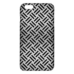 Woven2 Black Marble & Silver Brushed Metal (r) Iphone 6 Plus/6s Plus Tpu Case