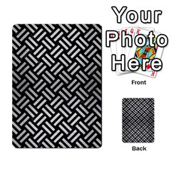 Woven2 Black Marble & Silver Brushed Metal Multi Purpose Cards (rectangle)