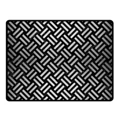 Woven2 Black Marble & Silver Brushed Metal Double Sided Fleece Blanket (small)