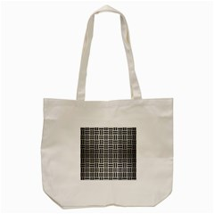 Woven1 Black Marble & Silver Brushed Metal (r) Tote Bag (cream)