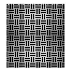 Woven1 Black Marble & Silver Brushed Metal (r) Shower Curtain 66  X 72  (large)