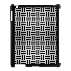 Woven1 Black Marble & Silver Brushed Metal (r) Apple Ipad 3/4 Case (black)