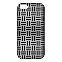 Woven1 Black Marble & Silver Brushed Metal (r) Apple Iphone 5c Hardshell Case