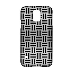 Woven1 Black Marble & Silver Brushed Metal (r) Samsung Galaxy S5 Hardshell Case