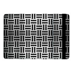 Woven1 Black Marble & Silver Brushed Metal (r) Samsung Galaxy Tab Pro 10 1  Flip Case