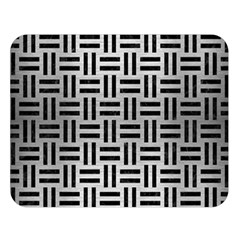 Woven1 Black Marble & Silver Brushed Metal (r) Double Sided Flano Blanket (large)