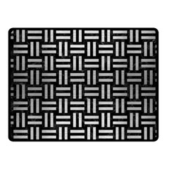 Woven1 Black Marble & Silver Brushed Metal Fleece Blanket (small)