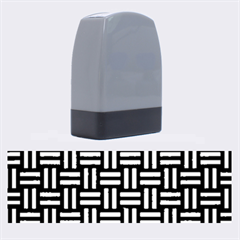 WOV1 BK MARBLE SILVER Name Stamps