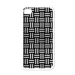 Woven1 Black Marble & Silver Brushed Metal Apple Iphone 4 Case (white)