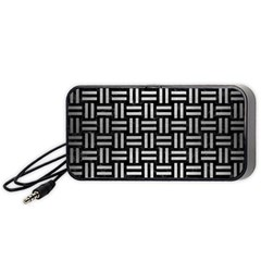 Woven1 Black Marble & Silver Brushed Metal Portable Speaker (black)