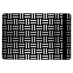 Woven1 Black Marble & Silver Brushed Metal Apple Ipad Air Flip Case