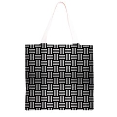 WOV1 BK MARBLE SILVER Grocery Light Tote Bag