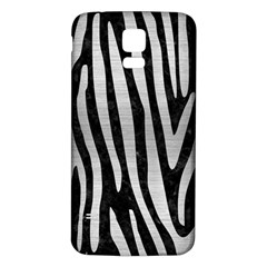 Skin4 Black Marble & Silver Brushed Metal (r) Samsung Galaxy S5 Back Case (white)