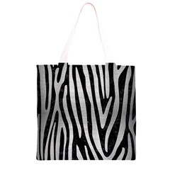 SKN4 BK MARBLE SILVER (R) Grocery Light Tote Bag