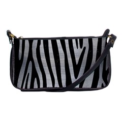 Skin4 Black Marble & Silver Brushed Metal Shoulder Clutch Bag