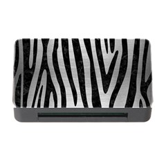 Skin4 Black Marble & Silver Brushed Metal Memory Card Reader With Cf