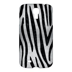 Skin4 Black Marble & Silver Brushed Metal Samsung Galaxy S4 I9500/i9505 Hardshell Case