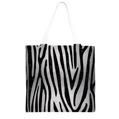 SKN4 BK MARBLE SILVER Grocery Light Tote Bag