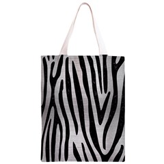 SKN4 BK MARBLE SILVER Classic Light Tote Bag
