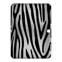 Skin4 Black Marble & Silver Brushed Metal Samsung Galaxy Tab 4 (10 1 ) Hardshell Case