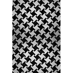 Houndstooth2 Black Marble & Silver Brushed Metal 5 5  X 8 5  Notebook