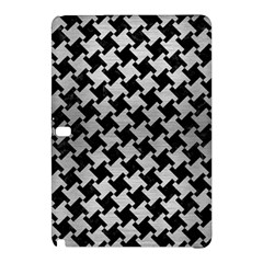 Houndstooth2 Black Marble & Silver Brushed Metal Samsung Galaxy Tab Pro 12 2 Hardshell Case
