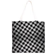 HTH2 BK MARBLE SILVER Grocery Light Tote Bag