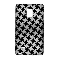 Houndstooth2 Black Marble & Silver Brushed Metal Samsung Galaxy Note Edge Hardshell Case