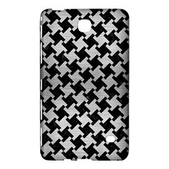 Houndstooth2 Black Marble & Silver Brushed Metal Samsung Galaxy Tab 4 (8 ) Hardshell Case