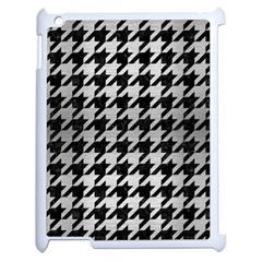 Houndstooth1 Black Marble & Silver Brushed Metal Apple Ipad 2 Case (white)