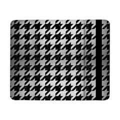 Houndstooth1 Black Marble & Silver Brushed Metal Samsung Galaxy Tab Pro 8 4  Flip Case