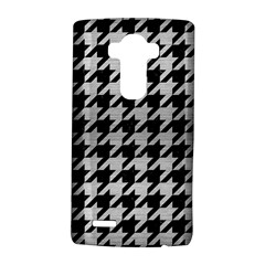 Houndstooth1 Black Marble & Silver Brushed Metal Lg G4 Hardshell Case