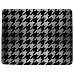 Houndstooth1 Black Marble & Silver Brushed Metal Jigsaw Puzzle Photo Stand (rectangular)
