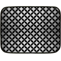 Circles3 Black Marble & Silver Brushed Metal (r) Double Sided Fleece Blanket (mini)