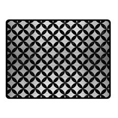 Circles3 Black Marble & Silver Brushed Metal (r) Fleece Blanket (small)