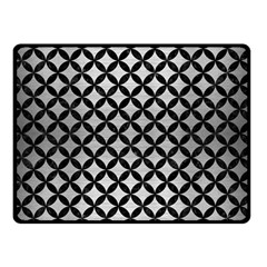 Circles3 Black Marble & Silver Brushed Metal (r) Double Sided Fleece Blanket (small)