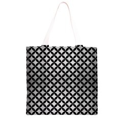 CIR3 BK MARBLE SILVER (R) Grocery Light Tote Bag