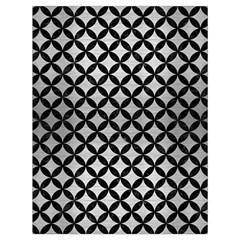Circles3 Black Marble & Silver Brushed Metal (r) Drawstring Bag (large)