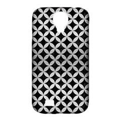 Circles3 Black Marble & Silver Brushed Metal Samsung Galaxy S4 Classic Hardshell Case (pc+silicone)