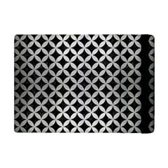 Circles3 Black Marble & Silver Brushed Metal Apple Ipad Mini 2 Flip Case